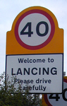 Welcome to Lancing sign